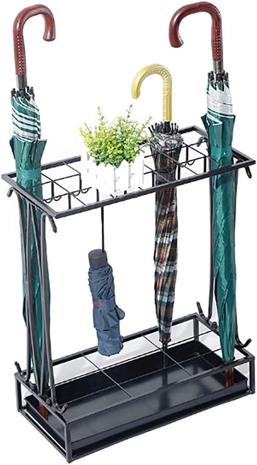 Wrought Iron Umbrella Stand Wrought Iron Floor-Mounted Household Umbrella Stand Foyer Office Umbrella Storage Bucket
