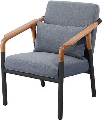北欧風 ナチュラル Flo Join Sofa 1P NA/BK(seatGY)クッション付 -