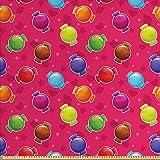 ABAKUHAUS Bunt Stoff als Meterware, Illustration von Candy,