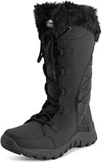 Polar Womens Quilted Lace Up Grey Outdoor Snow Rain Duck Boot