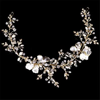 319e84f2a2 Weddwith Testa accessori Abiti da sposa Copricapo Europeo Matrimonio Abiti  da sposa Matrimoni Accessori Perle oro