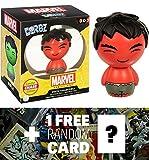 Rojo Hulk (Chase Exclusivo): Funko Dorbz X Marvel Universe Mini Vinilo Figura