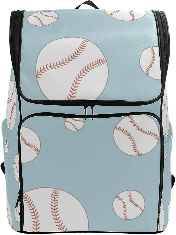 FANTAZIO Baseball Prints Laptop Outdoor Backpack Travel Hiking Camping Rucksack Pack, Casual Large College School Daypack