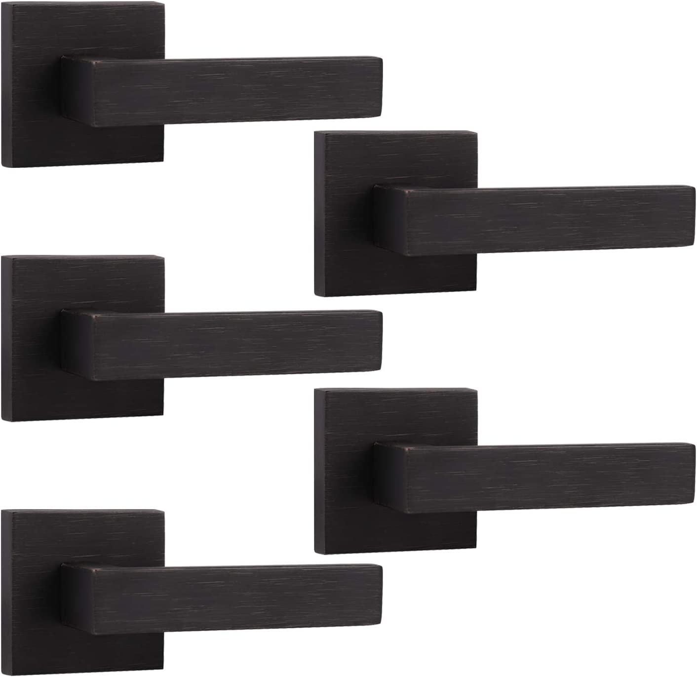 5 Pack Probrico Oil Rubbed Ranking TOP9 Bronze Door Heavy Free Shipping New Levers Square Duty