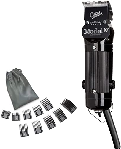 wholesale Oster Model 10 sale Classic Professional Barber Salon Pro Hair Grooming Clipper with outlet sale Extra Blade & 10 Piece Comb Guide Set, 12 Piece Set outlet sale