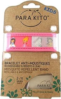 Para'Kito - Pulsera infantil antimosquitos, diseño de princesas, color rosa