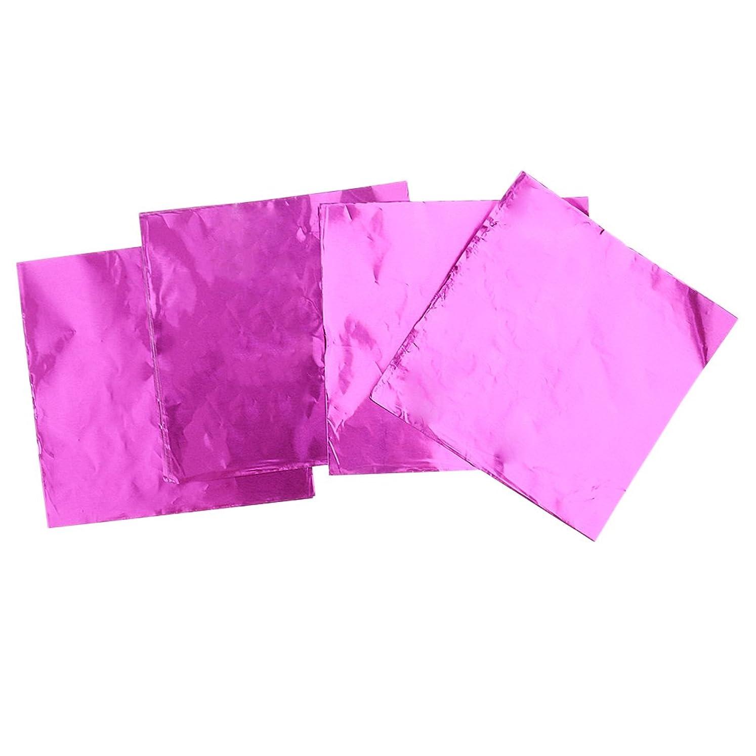 大人バーゲンパケットPrettyia 箔紙 チョコレート お菓子 キャンディ 包装 パーティー 結婚式 誕生日 ギフト 完璧 パッケージ 約100枚入り 多色選べる   - ピンク