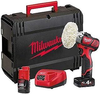 Milwaukee 4933447799 - M12bps - 421 x Polisher/Sander, 2 Speeds (2500/7500 RPM), Max Cap. 76 mm, 1 bat 4.0ah and 1 bat 2.0ah