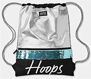Justice Turquoise Reversible Sequin Hoops Drawstring Bag