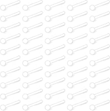 Cisyozi 50PCS-60PCS Clear Nose Ring 20G Bioflex Flexible Acrylic Bendable Nostril Bone Pin Retainer Stud 2mm 2.5mm 3mm Bal...