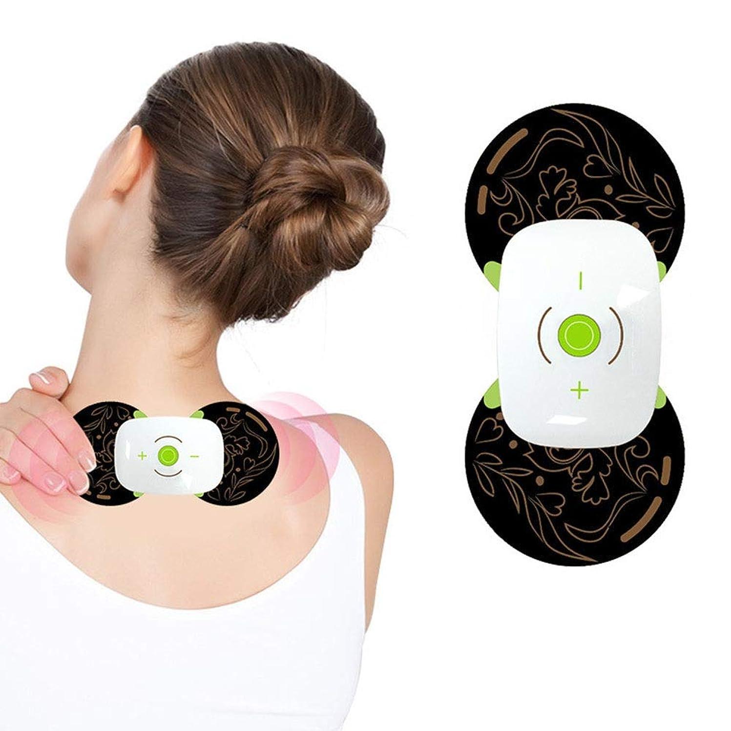 無効波紋効率的マッサージャー首のマッサージ肩のマッサージ背中のマッサージ腰のマッサージ足のマッサージ足のマッサージ (色 : ブラック, サイズ : 12.7x6cm)
