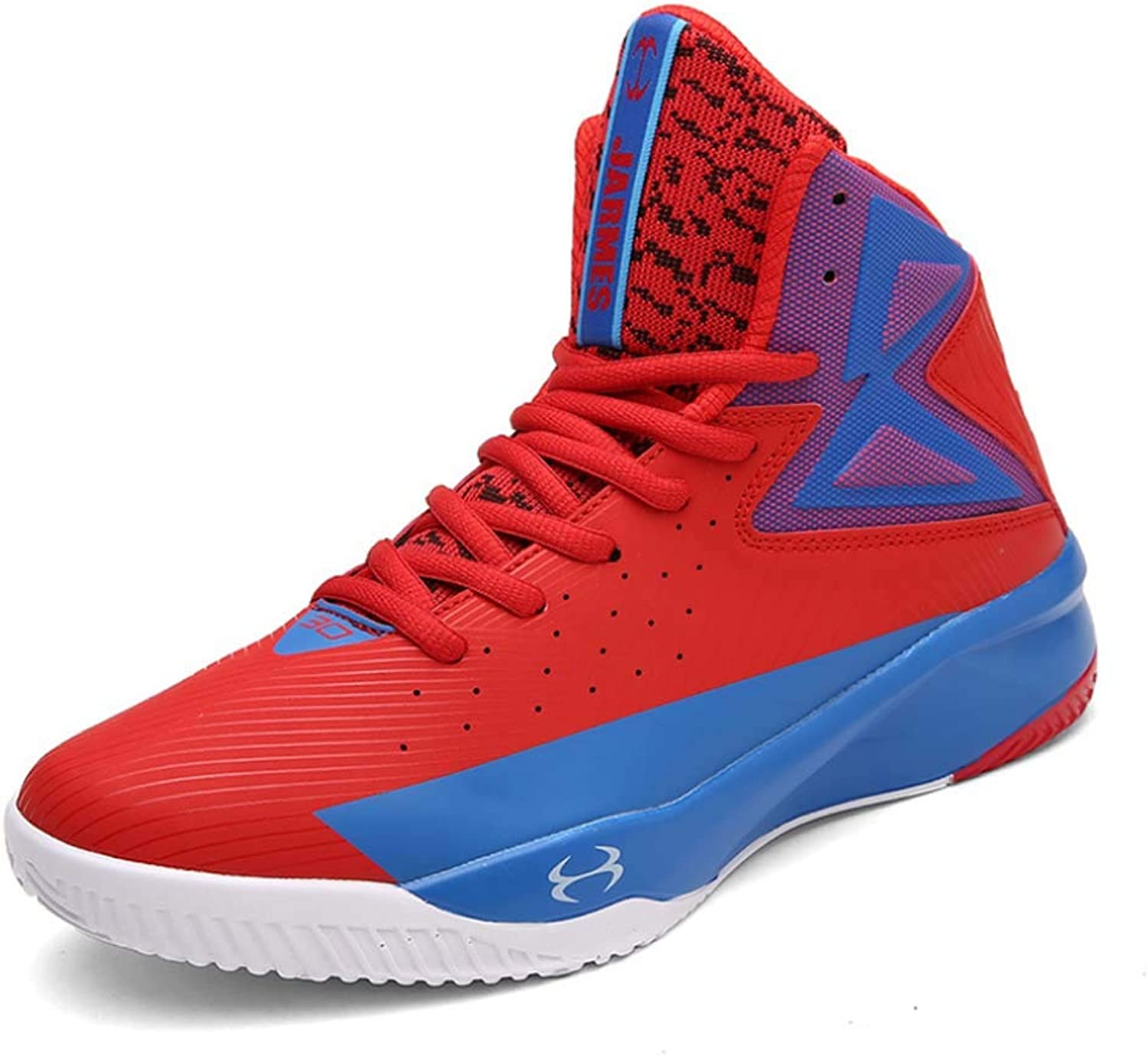 HYLFF Men Trainers Outdoor Waterproof Sneakers High Rise Basketball shoes Lightweight Casual shoes