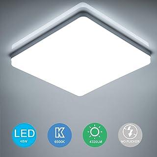 Yafido LED Lámpara de Techo Moderna 48W Plafón Led