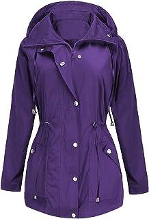 BBX Lephsnt Rain Jacket Women Waterproof with Hood Lightweight Raincoat Outdoor Windbreaker