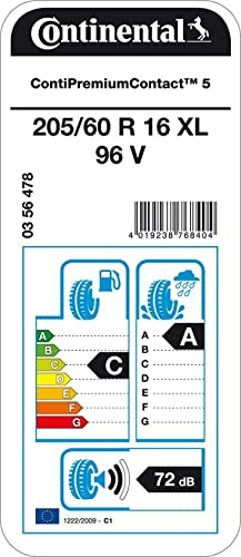 Continental Premiumcontact 5 Xl 205 60r16 96v Sommerreifen Auto