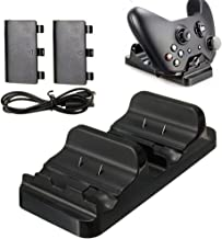 Xbox One Battery Charger,Lyyes Dual Charging Station with 2 Batteries Charger for Xbox One Wireless Controller