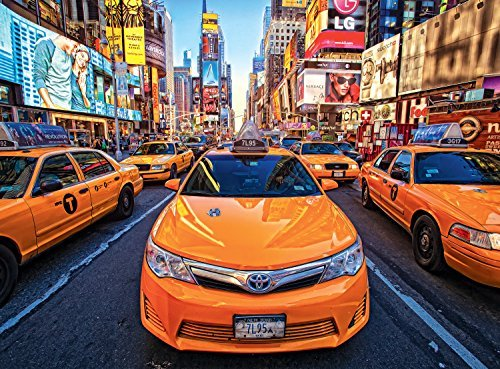 Buffalo Games Signature: Taxis in Times Square - 1000 Piece Jigsaw Puzzle by Buffalo Games by Buffalo Games