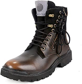 Bacca Bucci® Men's Earthkeepers Rugged/Light Weight/Bikers/Combat High top Genuine Leather Tuff Boots for Men