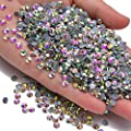 1440pcs Hotfix Quality Crystal Rhinestones Flatback Nail Art Pick Color (Crystal AB, 10ss)