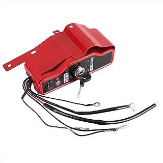 Zerodis Llave de encendido Caja del interruptor Encendido Interruptor de parada del motor eléctrico con 2 llaves en forma para motor Honda GX340 GX390 11HP 13HP