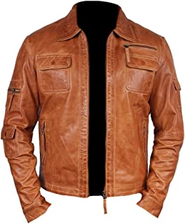 Classyak Men's Fashion Real Leather Stylish Moto Jacket