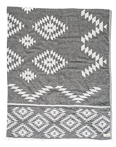 Bersuse 100% Algodón - Teotihuacan XL Manta Toalla Turca - Multiusos Colcha de Cama, Funda de Sofa - Fouta para Baño y Playa, Doble Capa - Oeko-Tex - 190 x 230 cm, Negro