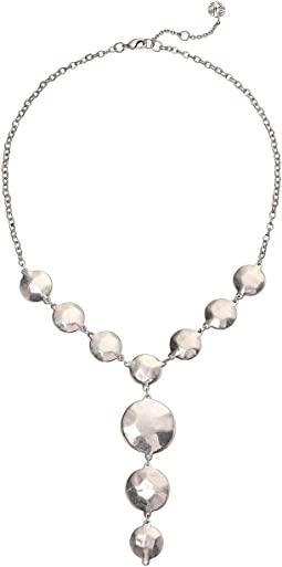 Disk Y-Neck Necklace 18""