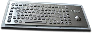 Backlighted/Illuminated Metal Keyboard - with 38mm trackball - 392 x135mm - USB Interface - US Layout