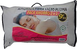 VIP HOGAR Pack 2 Almohadas Fibra Tacto Pluma 40 x 70 cm