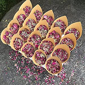 homeemoh wedding party confetti,100g natural dried flower petals biodegradable rose petals for wedding and party decoration silk flower arrangements