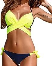 Rambling Womens Sexy Push up Two Piece Bikini Swimsuits Bandeau Bathing Suits
