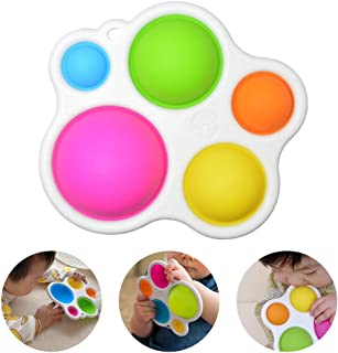Baby Sensory Toys, Best Learning Dimpl Toys Gifts Silicone Fat Brain Toy for Toddlers Ages 1~3 Years Old Infants Concentra...