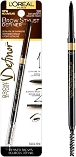 L'Oréal Paris Makeup Brow Stylist Definer Waterproof Eyebrow Pencil, Dark Brunette, 1 Count