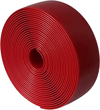 """KOMORAX RED 2"""" Wide 20' Length Chair Vinyl Strap Strapping for Patio Lawn Garden Outdoor Furniture Matte Finish Color"""