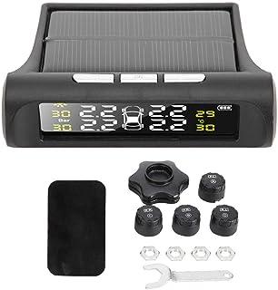 Sistema de monitoreo de presión de neumáticos TPMS con energía solar inalámbrica universal KIMISS con 4