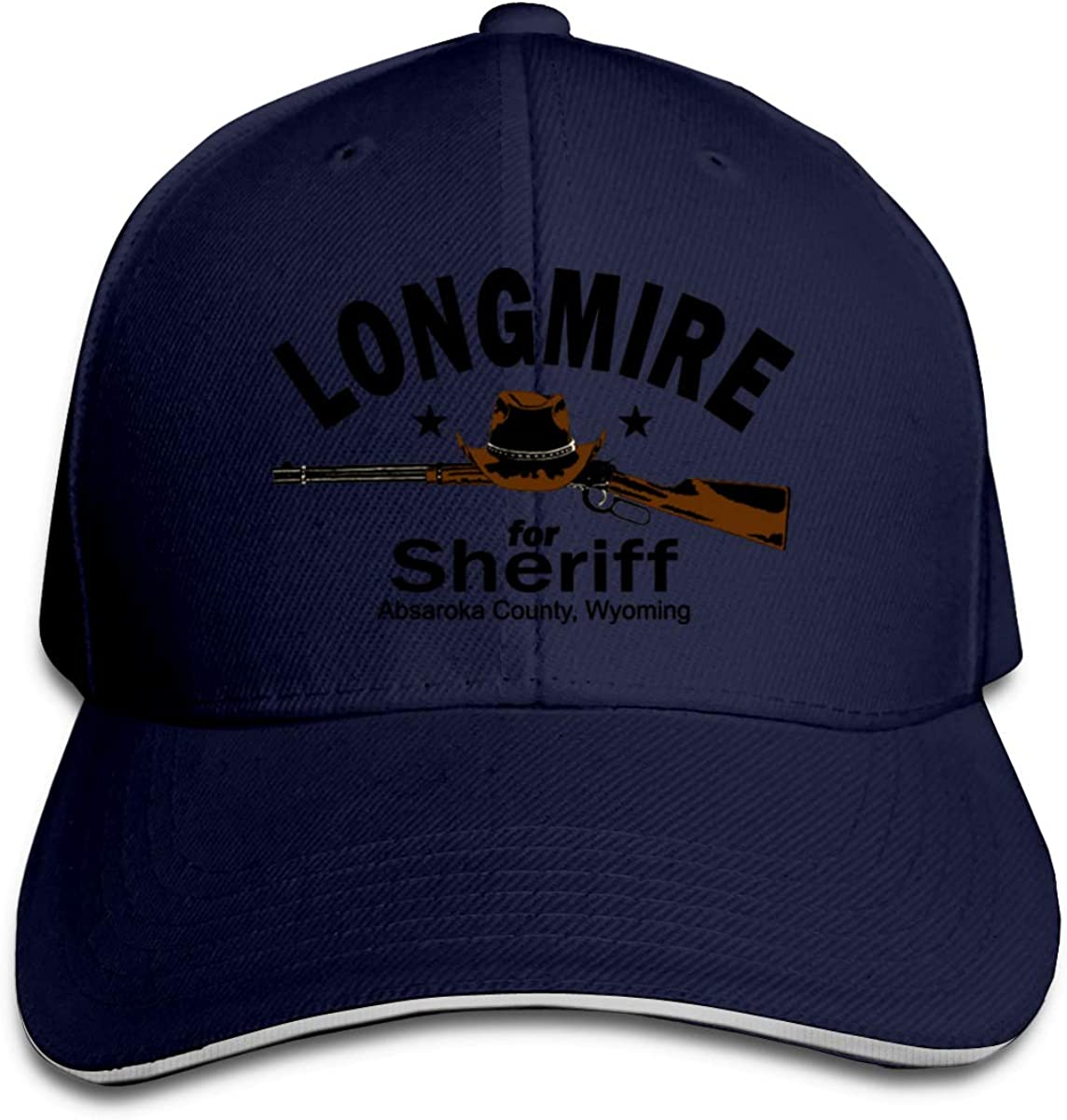 YUSOO Adult Unisex Casual Style Longmire for Sheriff Adjustable Sandwich Baseball Cap for Men's&Womens