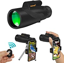 Ceenda Monocular Telescope,12x50 HD BAK4 Prism Waterproof High Power Monocular with Phone Photography Adapter and Wireless Remote Control,Perfect for Bird watching Hiking Concerts