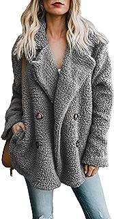 Sunm boutique 女士羊毛前开襟大衣带口袋外套