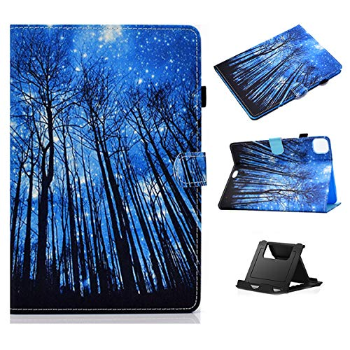 Case for 10.9 inch iPad Air 4th Generation Case 2020 with Pencil Holder,Shinyzone Midnight Forest Pattern fMagnetic Clasp Smart Auto Wake Sleep Cover,Multi-Angles Folio Stand Function