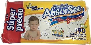 KIeenBebé Absorsec, Toallas Húmedas para Bebé, 90 Toallas