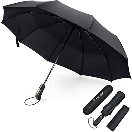 Automatik Regenschirm Taschenschirm Reflektierend Stabil Sturmsicher DHL Neu Hot