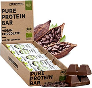 ORGANICA Barritas Proteína Chocolate Vegana [de Alemania] Barras de Proteína vegetal sin soja, azúcar añadido o suero de l...