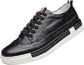 rismart Uomo Stringa Brogue Casuale Comfort alla Moda Pelle Soffice Sneaker