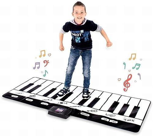 GZ Tapis De Jeu pour Piano Musical - Tapis De Sol De La Taille d'un Clavier pour Piano avec Modes De Jeu, EnregistreHommest, Lecture Et Démonstration,A,180  69Cm