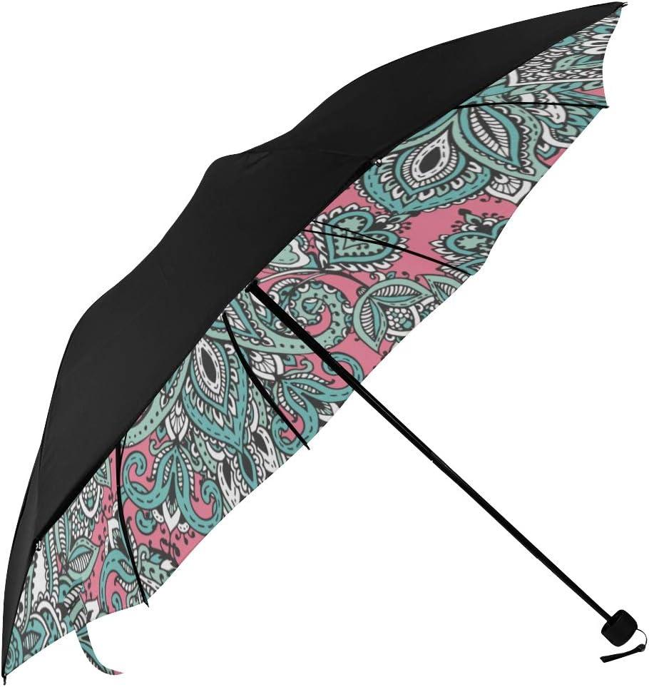 Travel Umbrella Large Mexican Vintage Now free shipping Underside Sacramento Mall Tribal Ethnic Pr