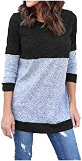 Howely Women Long Sleeve T Shirt Knit Jumper Loose Pullover Sweater Tops