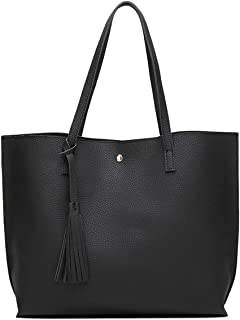 Women's Soft Faux Leather Tote Shoulder Bag from Dreubea,...
