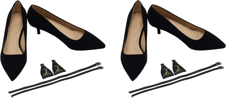 Women's Attachable HeelLiner Straps w Buckle Anti Slip Hold Heels Wedges Flats