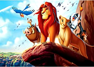 Lion King Backdrop for Baby Shower 7x5 Vinyl Backgrounds for Photography Birthday Party Baby Boy Shower for Backdrops Custom Name and Age