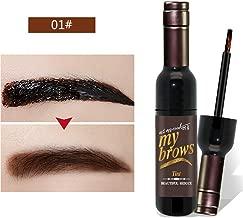 Hanyia Eyebrow Gel Peel Off Natural Tint Paint My Brows Enhancer Gel Wine Bottle Shape Waterproof Long Lasting Eye Brow Makeup Eyebrows Torn Dye Gel